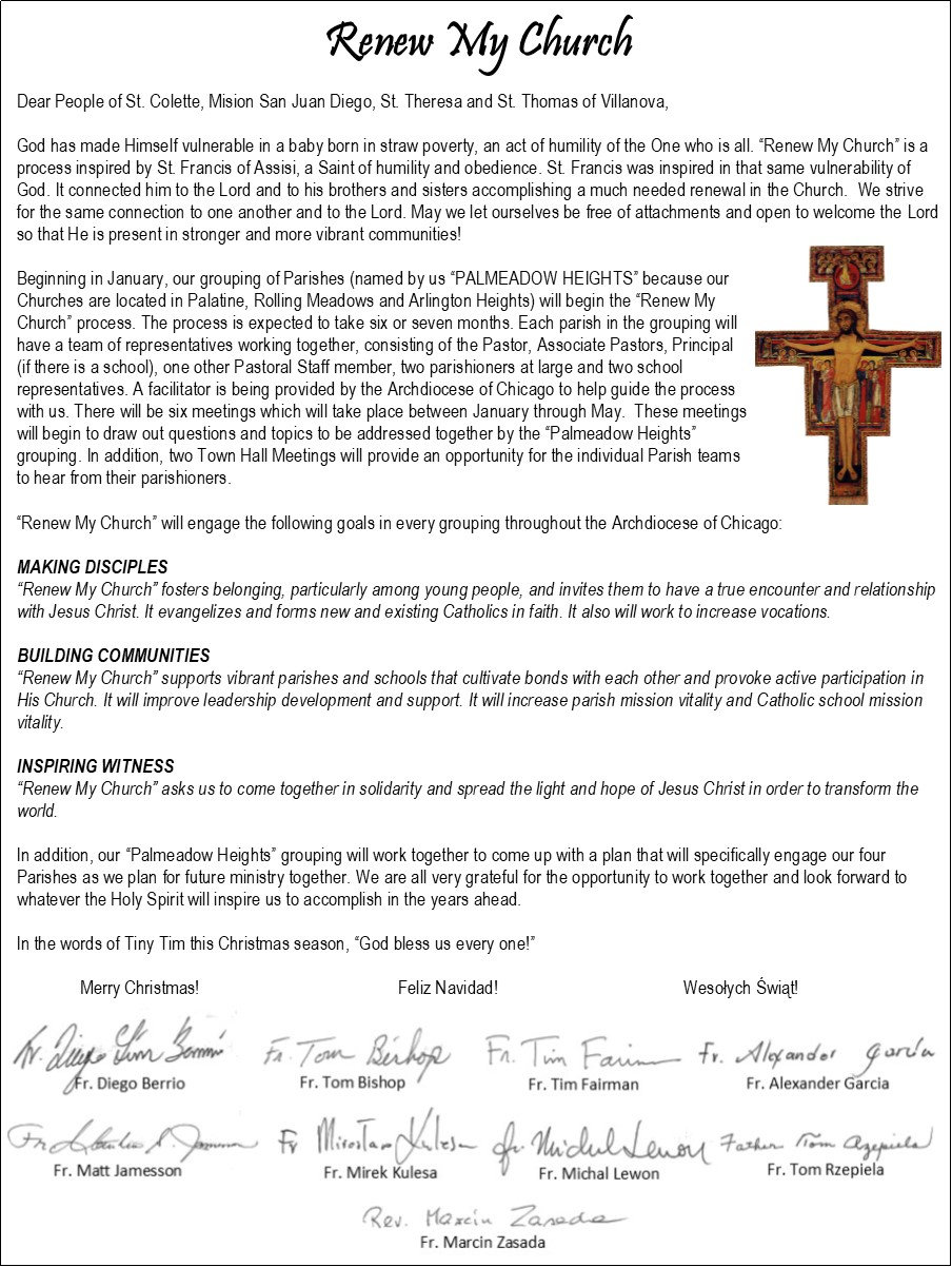 Christmas Renew My Church Letter